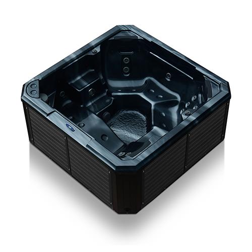 platinum plug in black marble