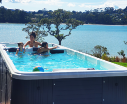 swim spa customer pic auckland