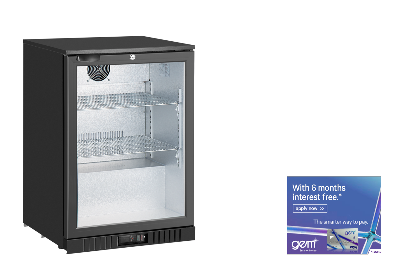 1 door fridge with gem visa finance link